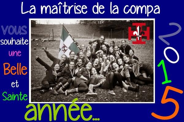 Voeux 2015 Maîtrise compagnie SUF ADB Nantes